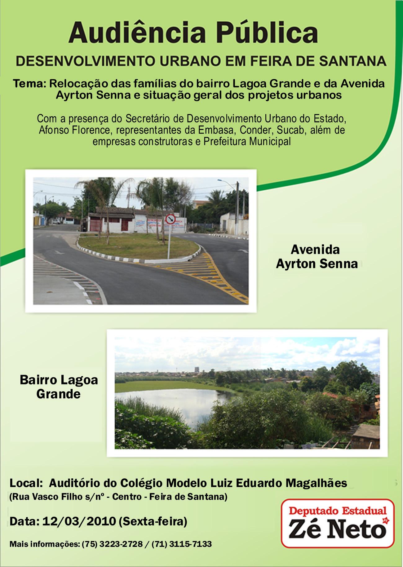 Audiência Pública: Desenvolvimento Urbano em Feira de Santana