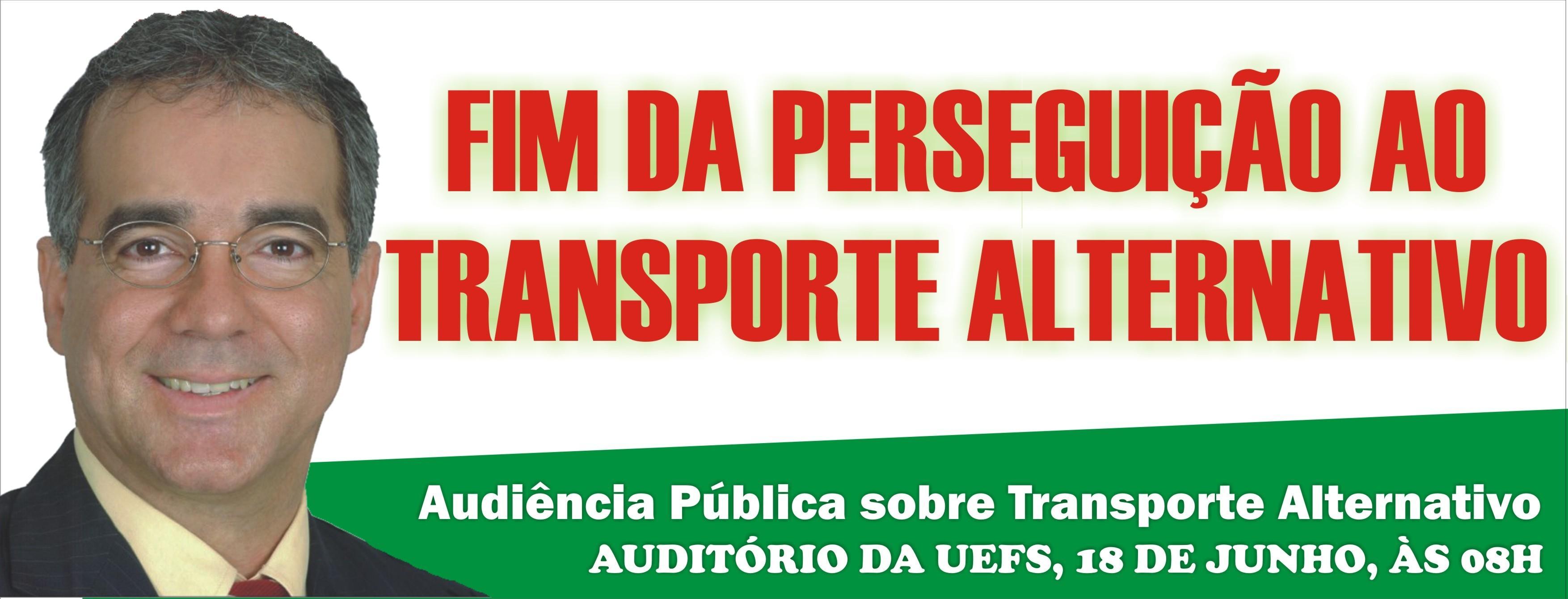 Audiência Pública: Fim da Perseguição do Transporte Alternativo