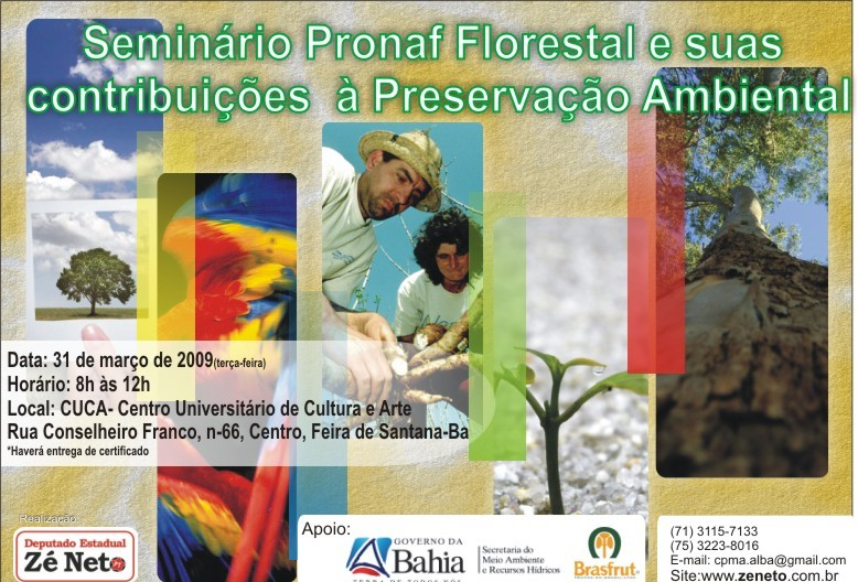 Seminário: Pronaf Florestal e suas contribuições à Preservação Ambiental