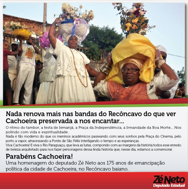 Homenagem aos 175 anos de emancipação política da cidade de Cachoeira