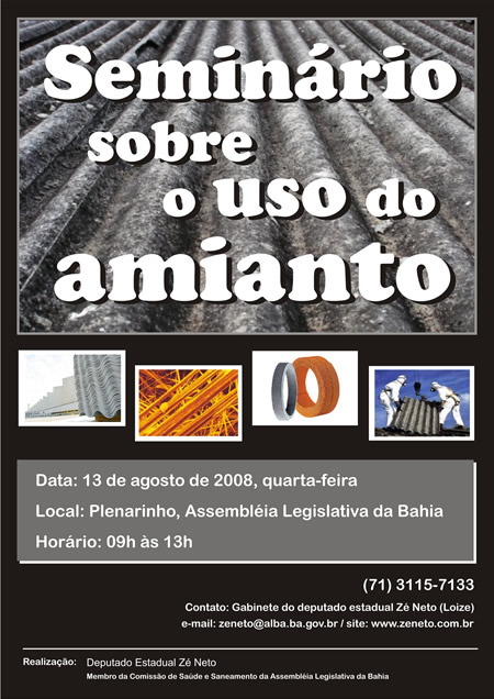 Seminário: Uso do Amianto