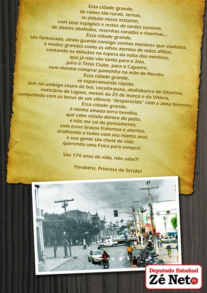 174 anos de Feira de Santana