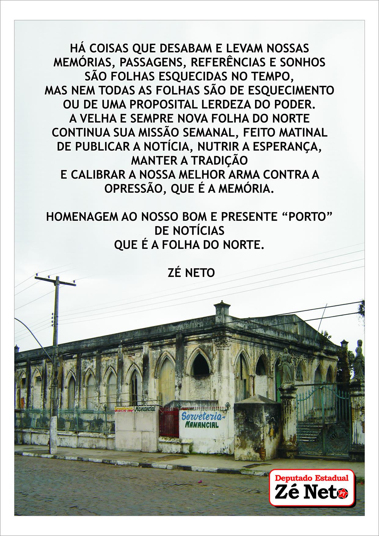 Ao Jornal Folha do Norte