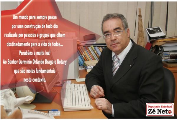 Ao senhor Germínio Orlando Braga e Rotary