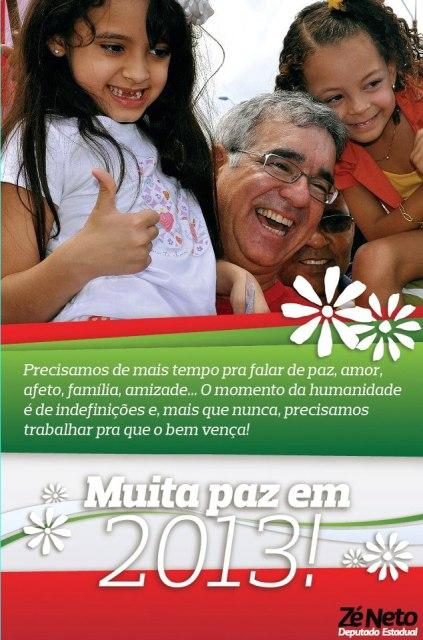 Zé Neto deseja muita paz em 2013!