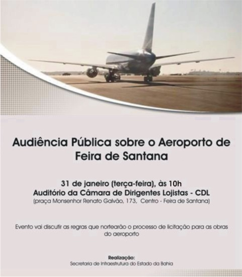 Audiência Pública sobre as obras no Aeroporto de Feira de Santana