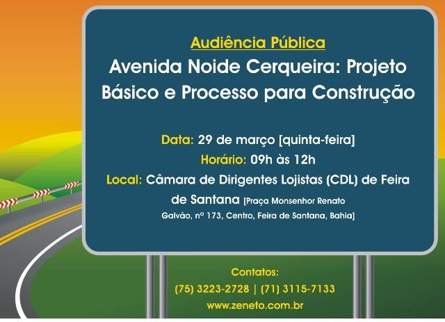 Audiência Pública para apresentação do Projeto Básico da Avenida Nóide Cerqueira
