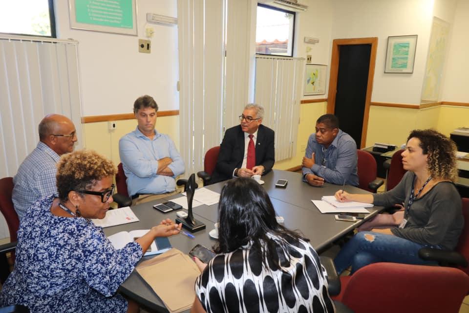 Reunião na CONDER discute sobre continuidade das obras da Lagoa Grande e sobre Centro de Convenções de Feira