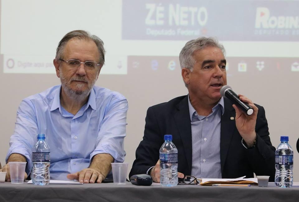 Deputados Zé Neto e Robinson Almeida realizam Audiência, em Feira, para debater Reforma da Previdência, com a presença do ex-ministro Miguel Rossetto