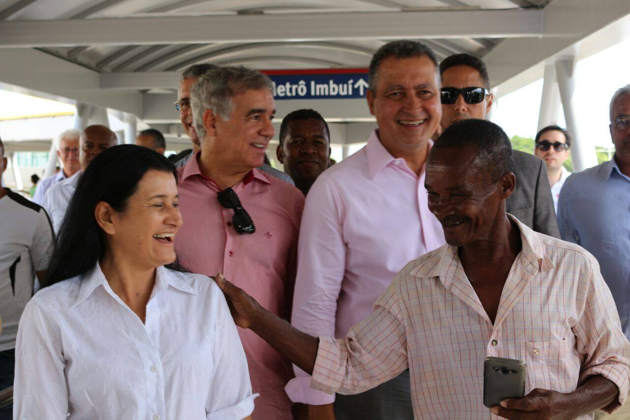 Inauguração da estação de metrô imbuí, em Salvador