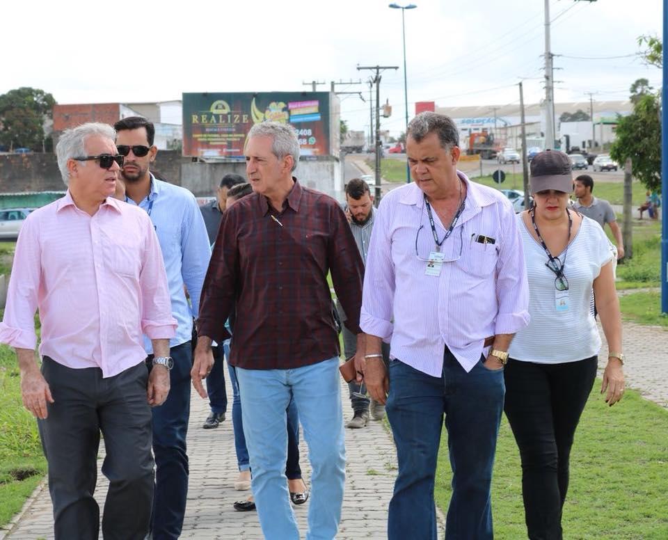 Visita às obras da Lagoa Grande, em Feira, para conferir as últimas ações que estão sendo realizadas na região