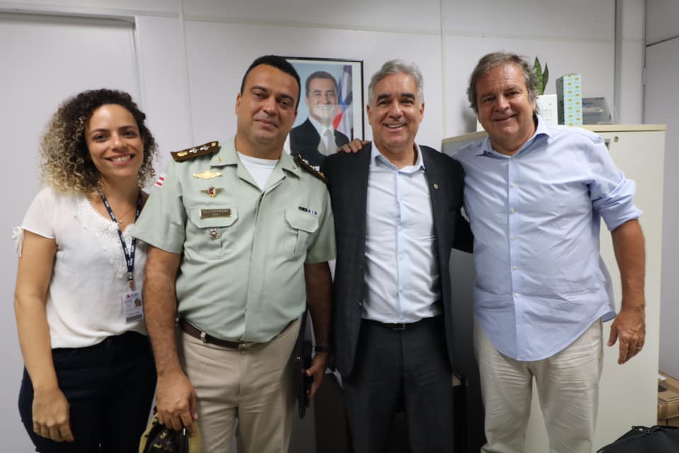 Zé Neto participa de reunião com Paulo Vital, major Lúcio e Joana Parolli, em Salvador, para tratar da Micareta de Feira