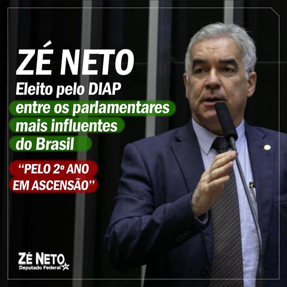Zé Neto novamente entre os parlamentares mais influentes do Brasil