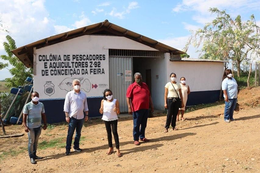 Zé Neto visita Associação dos Moradores de Capela, Projeto Mulheres Brilhantes e Colônia de Pescadores e Aquicultores de Conceição da Feira