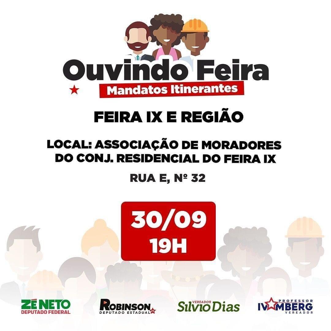 Caravana Ouvindo Feira visita o bairro Feira IX nesta quinta (30)